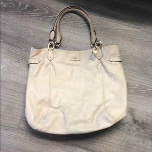 Large off white coach purse